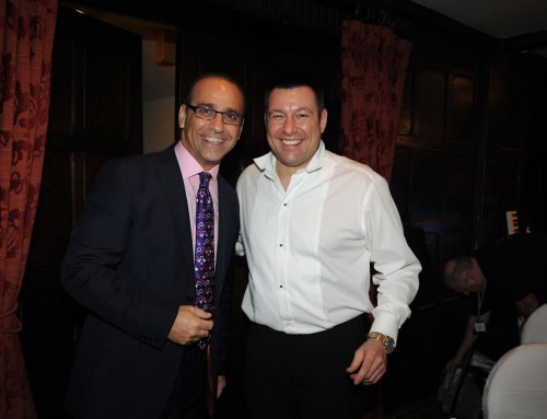 DJ Paul Burton with Theo Paphitis